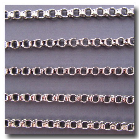 Rhodium Plate Ladder Chain 4.5mm