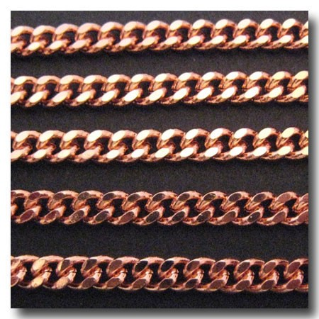 Rose Gold Plate Medium Diamond Cut Boxcar Chain 5.5mm