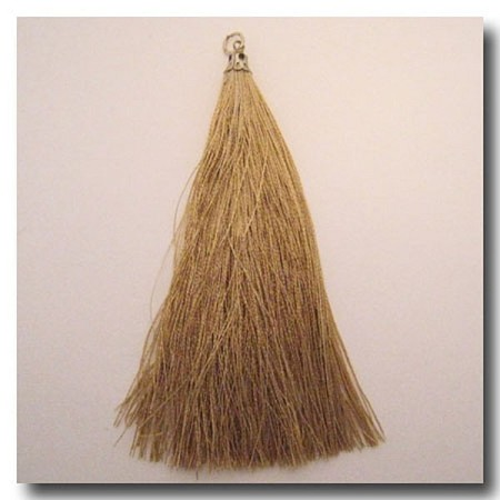 Silk Tassel | 3 1/2 inch | Antique Gold | Antique Gold Cap