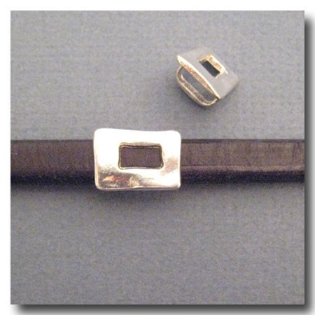 Antique Silver Euro Licorice Distressed Buckle