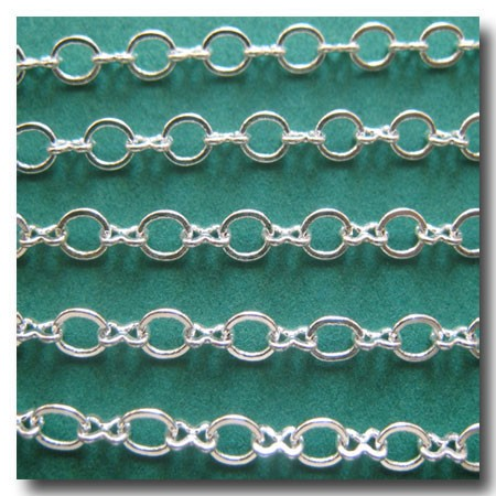 Silver Plate Petite Figure Eight Style Chain
