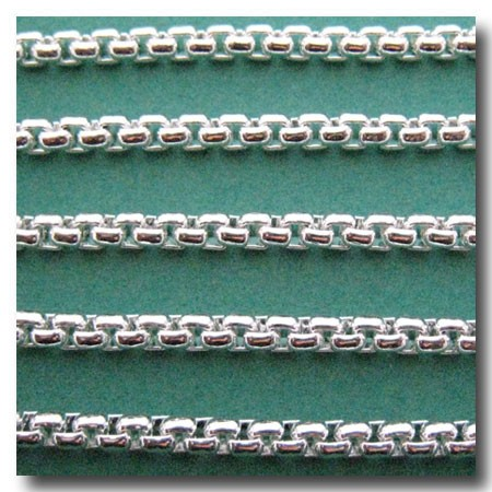 Silver Plate New Box Chain 4mm