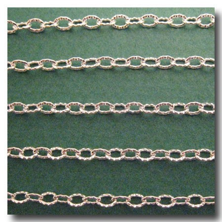 Silver Plate Petite Etched Margarithe Chain