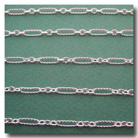 Silver Plate Crimped Olivet Chain