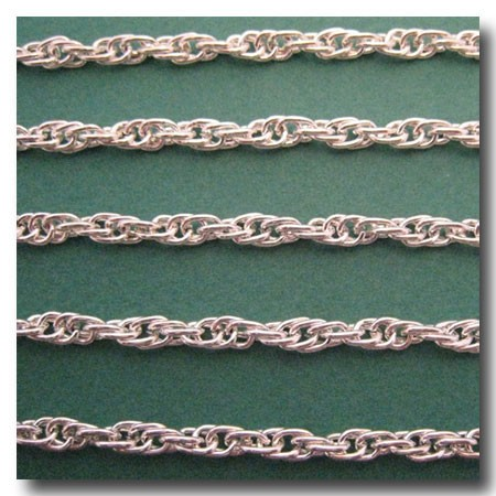 Silver Plate Rope Style Chain 4.5mm