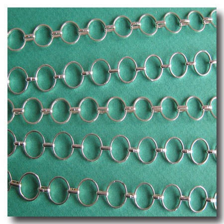 Silver Plate Round-Ring Contemporary Chain