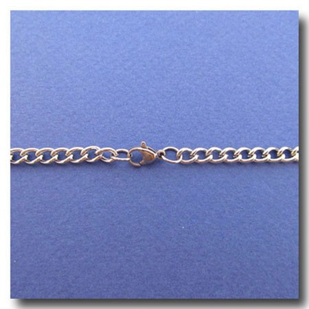Stainless Steel Necklace | Curb Chain 4.5mm | 20 inch