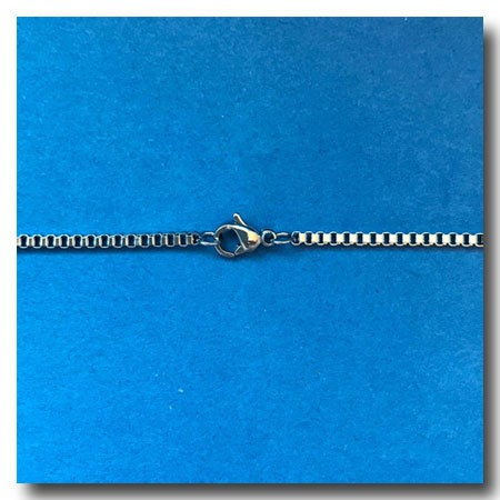 Stainless Steel Necklace | Italian Box Chain 1.5mm | 18 inch