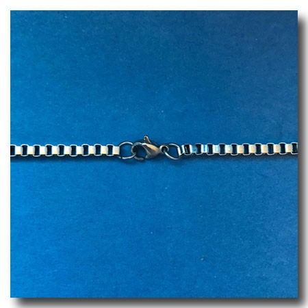 Stainless Steel Necklace | Italian Box Chain 3mm | 20 inch