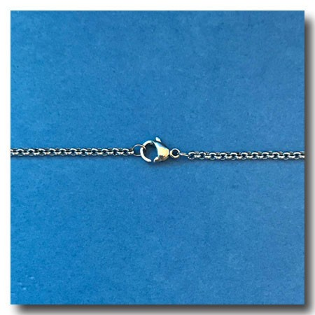 Stainless Steel Necklace | Rolo Chain 2mm | 22 inch
