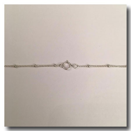 Sterling Silver Necklace | Satellite Chain 5/8 Inch | 16 inch